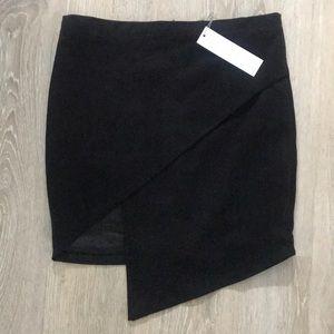 Vici Olivaceous Enzo asymmetrical black skirt M